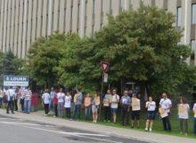 تجمع اعتراضی ایرانیان مونترال در مقابل دفتر نخست وزیر کانادا