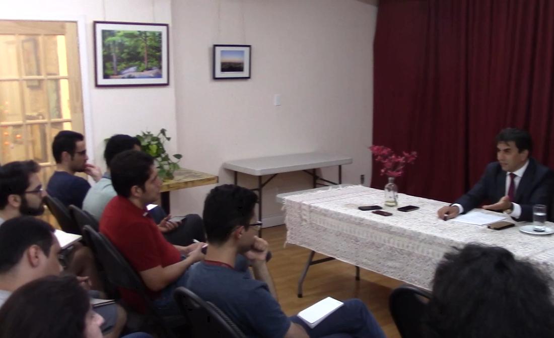 کارگاه اقامت و مهاجرت برای دانشجویان با حضور علی مختاری برگزار شد
